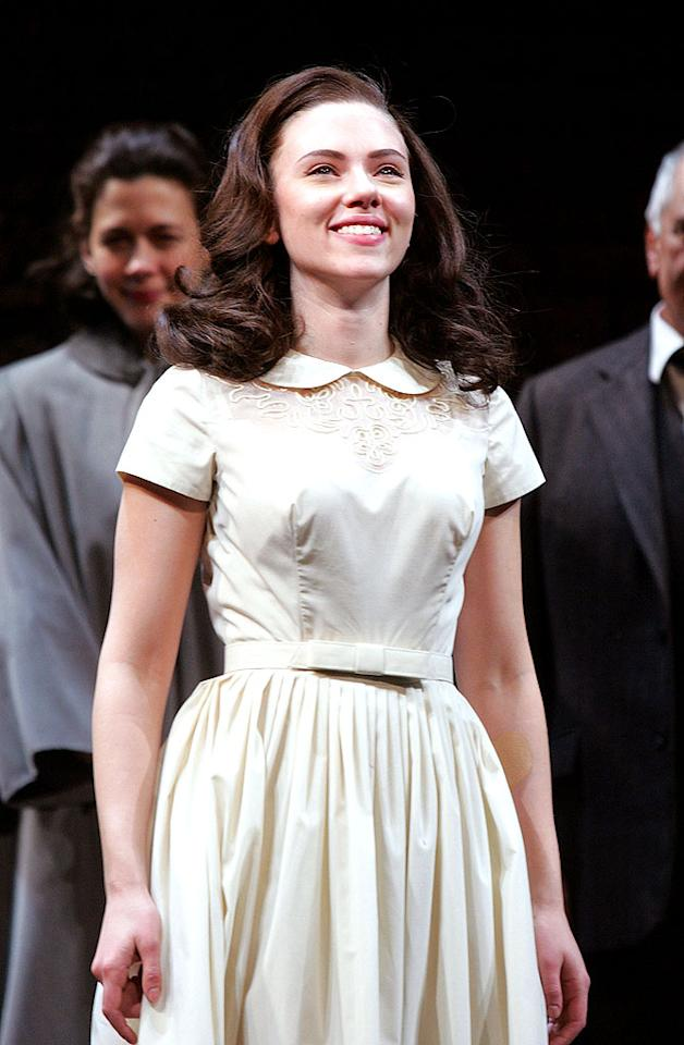 "Another actress getting a little theatrical was Scarlett Johansson. The talented Mrs. Reynolds made her Broadway debut in ""A View From The Bridge"" in New York to rave reviews. Jim Spellman/<a href=""http://www.wireimage.com"" target=""new"">WireImage.com</a> - January 24, 2010"