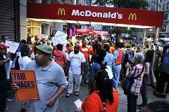 Fast food strike gets super-sized over wages