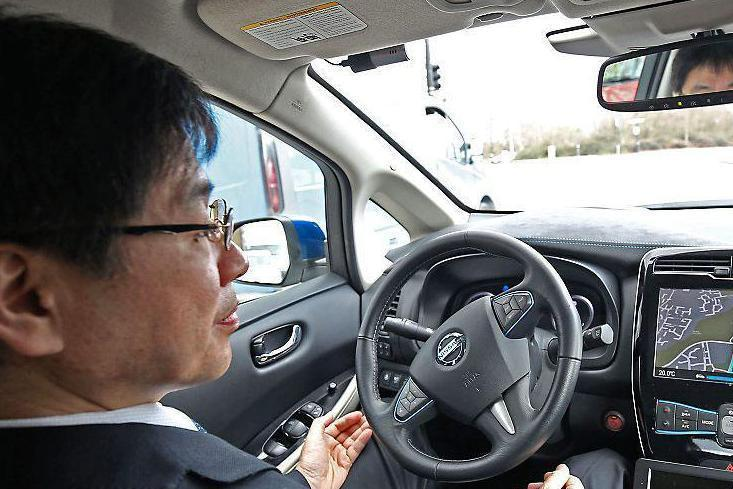 Hands-free: Nissan demostrated a driverless car prototype in London this month