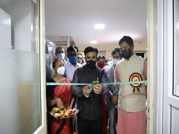 Dr K Sudhakar inaugurating the facility in Bengaluru Rural on Saturday. Photo/ANI