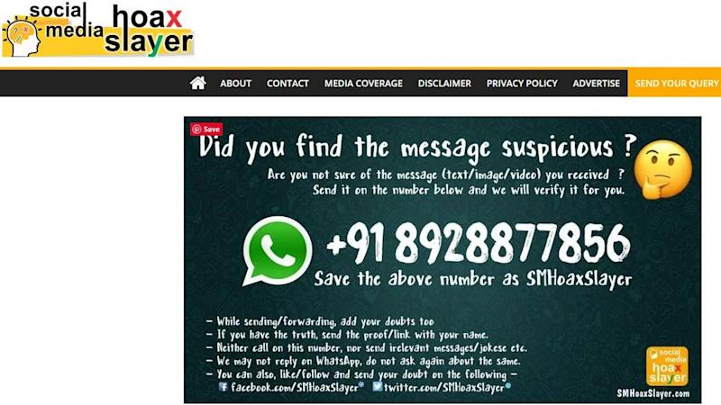 SM Hoax Slayer has a WhatsApp number where you can send messages which you want to get fact-checked.