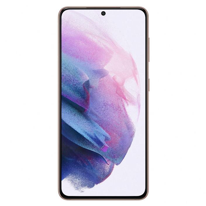 """<p><strong>Samsung Electronics</strong></p><p>amazon.com</p><p><strong>$799.99</strong></p><p><a href=""""https://www.amazon.com/dp/B08N2FRMPN?tag=syn-yahoo-20&ascsubtag=%5Bartid%7C10060.g.35226246%5Bsrc%7Cyahoo-us"""" rel=""""nofollow noopener"""" target=""""_blank"""" data-ylk=""""slk:Shop Now"""" class=""""link rapid-noclick-resp"""">Shop Now</a></p><p>The all-new Samsung Galaxy S21 is our top pick for most buyers. It is packed with cutting-edge hardware specs, yet it has an elegant and compact design. The phone packs a powerful chip, a powerful camera setup with a high-resolution telephoto sensor and head-spinning zoom capabilities, and a gorgeous AMOLED 2X display. </p><p>Compared to the Galaxy S20 it replaces, the Galaxy S21 has a display with a lower FHD+ resolution, but an adaptive refresh rate. The last bit saves battery by automatically adjusting the frame rate depending on the onscreen content. </p><p>The video-recording capabilities of the Galaxy S21 smartphone are truly remarkable. The phone can capture 8K footage with four times as many pixels as 4K video, as well as high-quality audio. An AI-powered feature called Single Take, on the other hand, seamlessly captures multiple photos and video clips, ensuring that user can always capture a perfect shot.</p><p>The Galaxy S21 has enough RAM and storage to rival a laptop computer, as well as one the best display panels in the business. Of course, like its predecessors, the latest Galaxy also features a fully waterproof build and built-in stereo speakers. </p><p>In case you a looking for new top-shelf Galaxy with a bigger screen, consider the <a href=""""https://www.amazon.com/dp/B08N387GNG?tag=syn-yahoo-20&ascsubtag=%5Bartid%7C10060.g.35226246%5Bsrc%7Cyahoo-us"""" rel=""""nofollow noopener"""" target=""""_blank"""" data-ylk=""""slk:Galaxy S21+"""" class=""""link rapid-noclick-resp"""">Galaxy S21+</a> instead. For $200 more, it has a larger 6.7-inch FHD+ display and a battery that's 20% bigger (4,800 mAh). The rest of its hardware specs are the same as the Galaxy S21"""