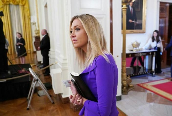 White House Press Secretary Kayleigh McEnany is the new face of the Trump media operation (AFP Photo/MANDEL NGAN)