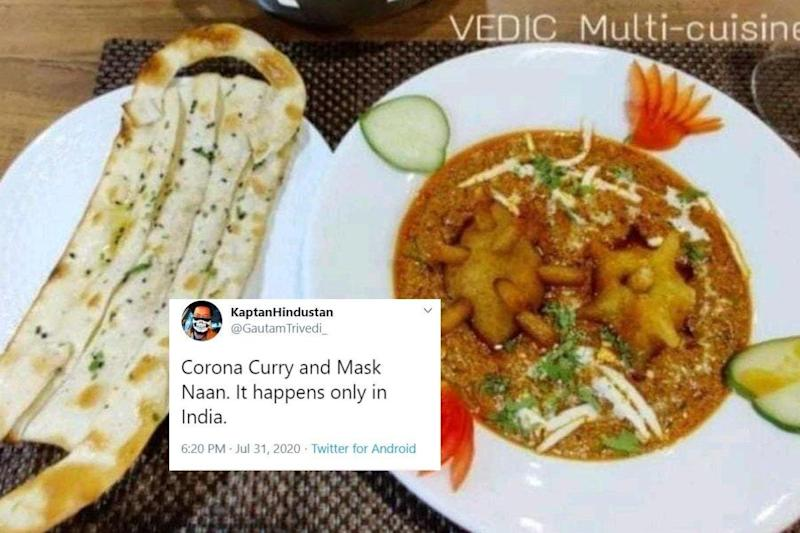Only in India: This Jodhpur Restaurant's 'Covid Curry' and 'Mask Naan' are Breaking the Internet