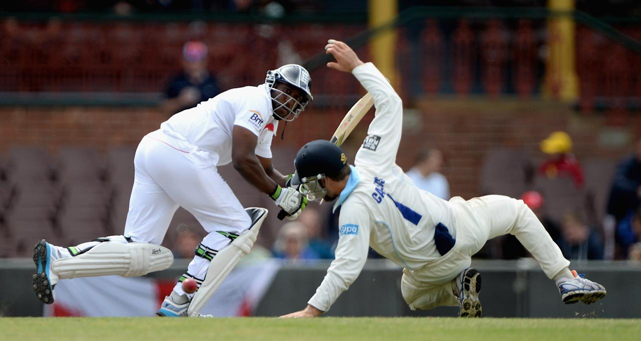 SYDNEY, AUSTRALIA - NOVEMBER 16:  Michael Carberry of England bats during day four of the tour match between CA Invitational XI and England at the Sydney Cricket Ground on November 16, 2013 in Sydney, Australia.  (Photo by Gareth Copley/Getty Images)
