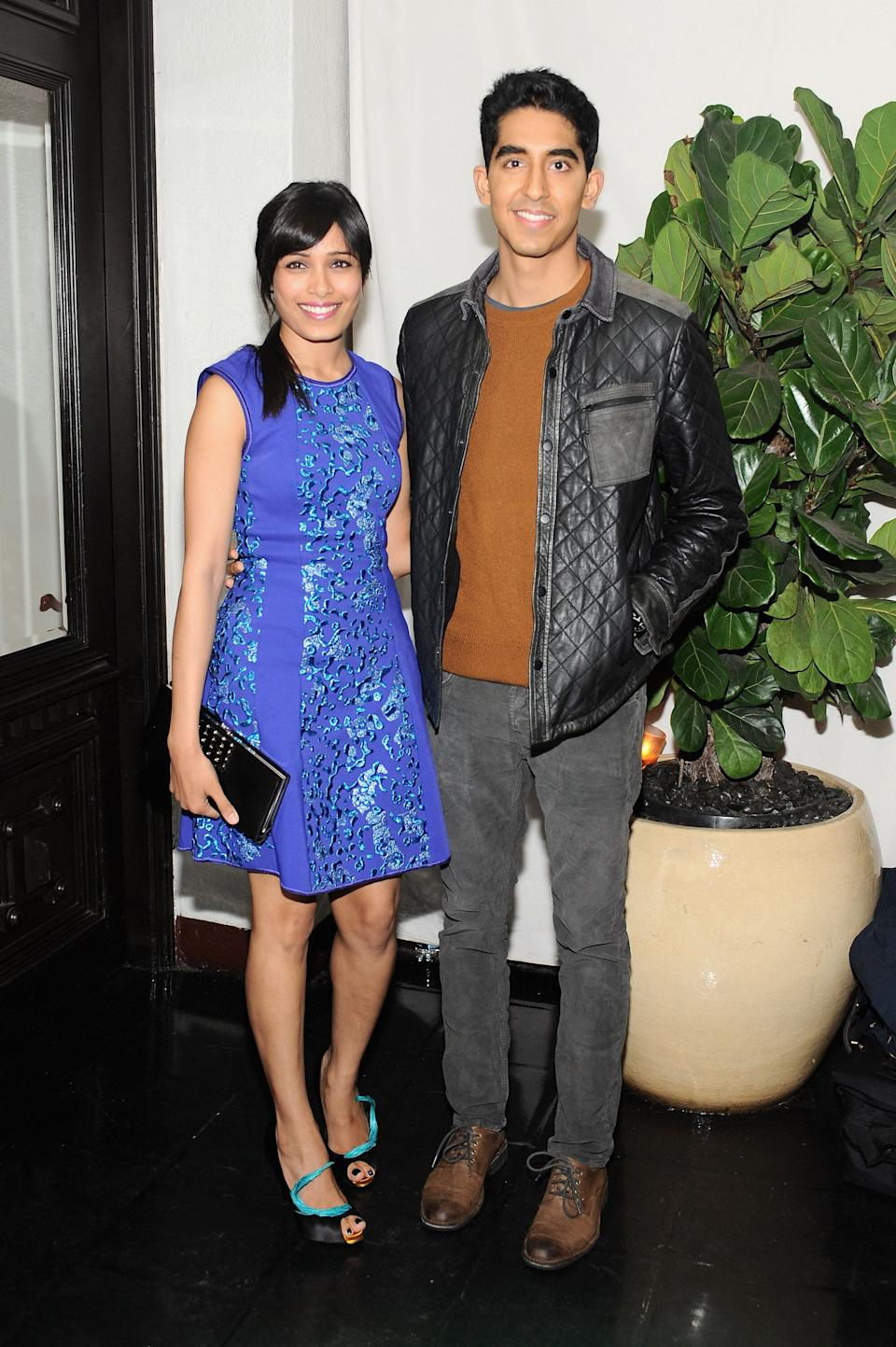 Patel and Pinto at Dom Perignon and W Magazine's celebration of the Golden Globes at Chateau Marmont in Los Angeles on Jan. 11, 2013.