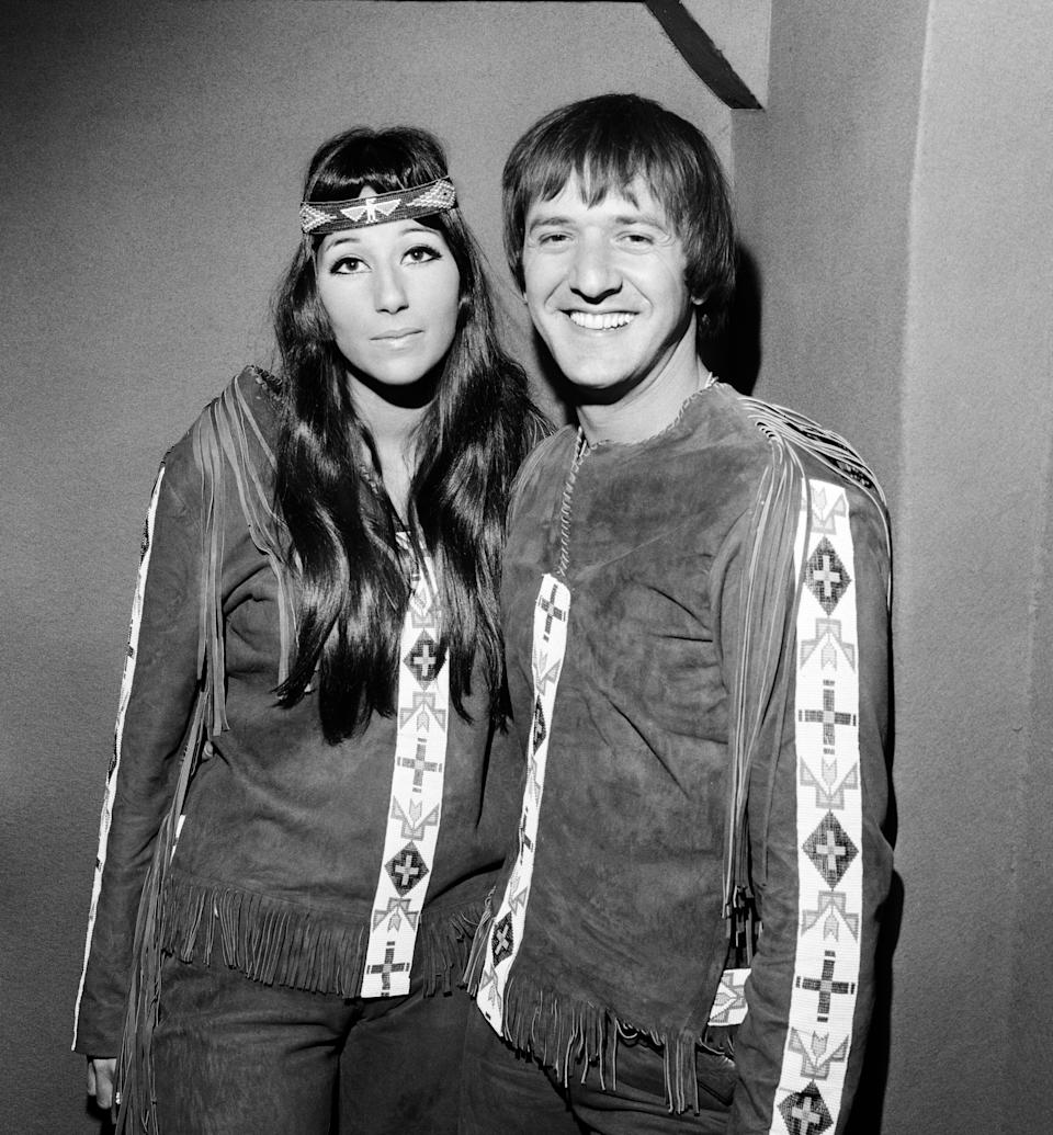 """<p>For 13 years, Sonny Bono and Cher were one of the most powerful couples in music thanks to their smash hit """"I've Got You Babe"""" and their successful variety show, """"The Sonny and Cher Comedy Hour."""" The pair's unique style has cemented them as one of the most popular celebrity duos of all time, decades after their 1975 divorce. <em>(Image via Getty Images)</em></p>"""