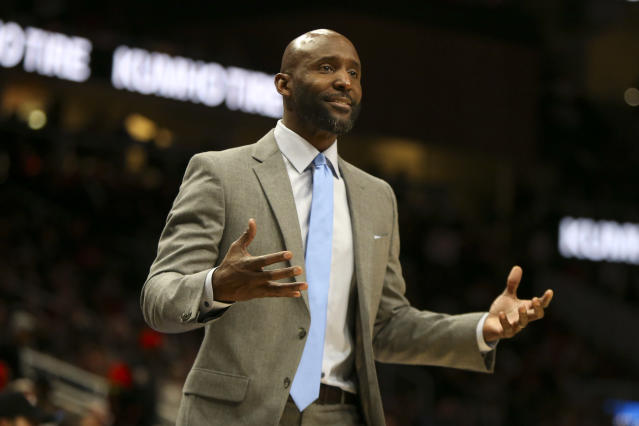 The Hawks are struggling in head coach Lloyd Pierce's second season. (AP Photo/Brett Davis)