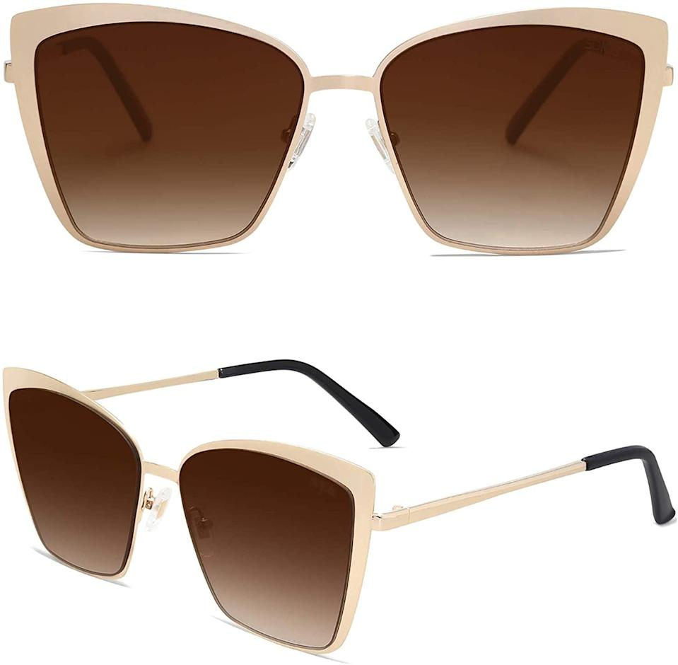 <p>These <span>SOJOS Cateye Sunglasses</span> ($15) give the cateye trend an oversize twist that we're loving.</p>