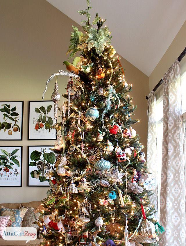 "<p>If you don't want to display angels and stars again this year, top your tree with ivy instead. It simultaneously blends in with the tree and stands out.</p><p>See more at <a href=""http://www.attagirlsays.com/2013/12/02/2013-christmas-house-tour-holiday-decorating-ideas/"" rel=""nofollow noopener"" target=""_blank"" data-ylk=""slk:Atta Girl Says"" class=""link rapid-noclick-resp"">Atta Girl Says</a>.</p><p><a class=""link rapid-noclick-resp"" href=""https://www.amazon.com/dp/B00B9AAH9Y/ref=dp_prsubs_1?tag=syn-yahoo-20&ascsubtag=%5Bartid%7C10057.g.505%5Bsrc%7Cyahoo-us"" rel=""nofollow noopener"" target=""_blank"" data-ylk=""slk:SHOP GARLAND"">SHOP GARLAND</a> <em><strong>Ivy Garland, $17</strong></em></p>"