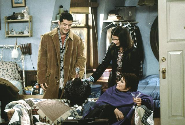 """<p>Kidder had a long list of TV credits, featuring guest roles on shows such as <i>The L Word</i> and <i>Law & Order: Special Victims Unit</i>, but she regularly played the eccentric drama teacher in this sitcom. The role notably marked <a href=""""https://www.newspapers.com/newspage/20264935/"""" rel=""""nofollow noopener"""" target=""""_blank"""" data-ylk=""""slk:her return to show biz"""" class=""""link rapid-noclick-resp"""">her return to show biz</a> following what she called """"<a href=""""https://www.yahoo.com/entertainment/public-freak-history-margot-kidder-became-one-hollywoods-prominent-mental-health-advocates-211209301.html"""" data-ylk=""""slk:the most public freak-out in history;outcm:mb_qualified_link;_E:mb_qualified_link"""" class=""""link rapid-noclick-resp newsroom-embed-article"""">the most public freak-out in history</a>."""" (Photo: Castle Rock Entertainment/courtesy of Everett Collection) </p>"""