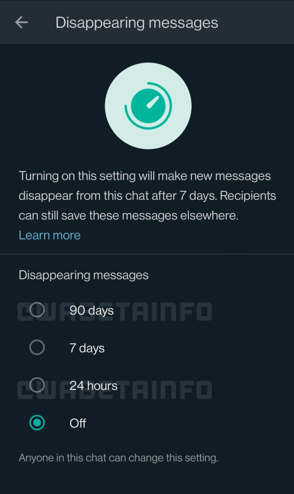 WhatsApp is testing the option to have messages disappear after 90 days. — SoyaCincau pic
