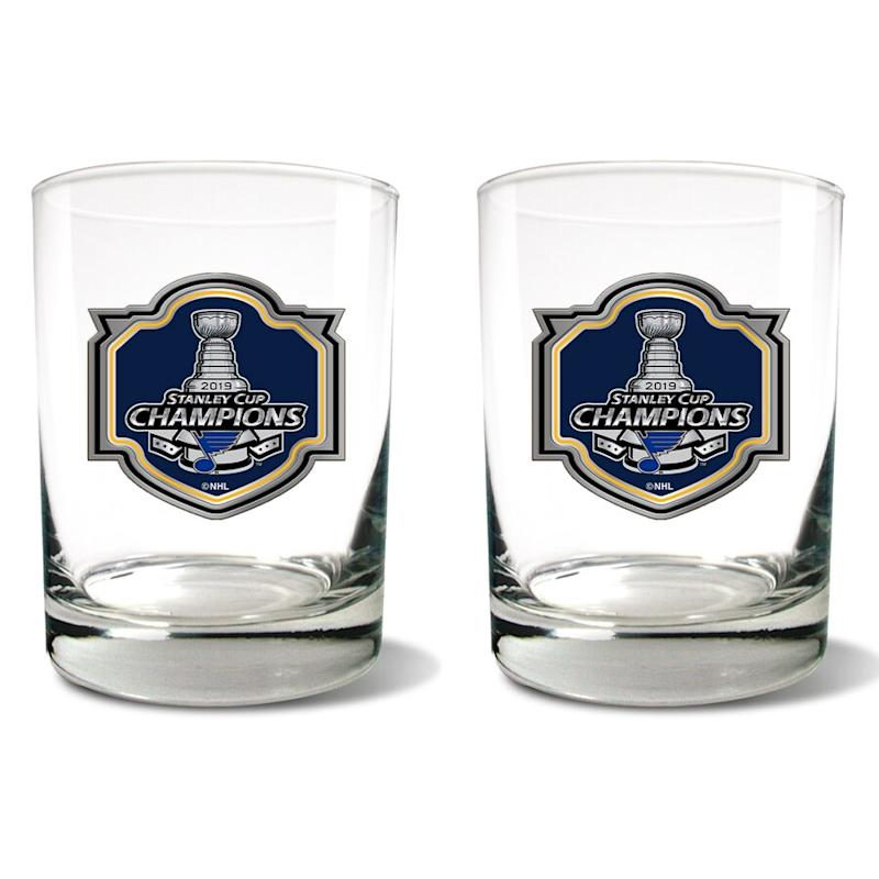 Blues 2019 Stanley Cup Champions Rocks Glass Set