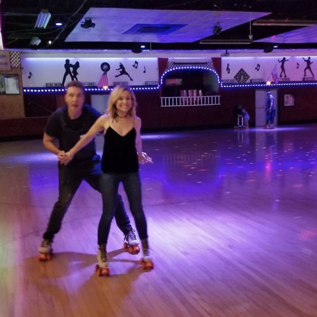 "<p>Couples' skate! The <em>Bad Moms Christmas</em> star and her hubby threw it back to the '80s in a big way Saturday night, as they spent their evening <a href=""https://www.yahoo.com/lifestyle/dax-shepard-rents-roller-skating-010130187.html"" data-ylk=""slk:roller skating with friends;outcm:mb_qualified_link;_E:mb_qualified_link"" class=""link rapid-noclick-resp newsroom-embed-article"">roller skating with friends</a>. ""Incredible night at @officialmoonlightrollerway,"" Bell wrote. ""Not a single broken bone!"" (Photo: <a href=""https://www.instagram.com/p/BcOnPDbFZxX/?taken-by=kristenanniebell"" rel=""nofollow noopener"" target=""_blank"" data-ylk=""slk:Kristen Bell via Instagram"" class=""link rapid-noclick-resp"">Kristen Bell via Instagram</a>) </p>"
