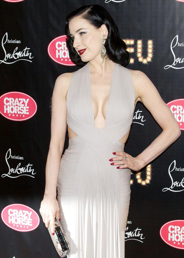 6. Burlesque performer Dita Von Teese took her place at number six / WENN