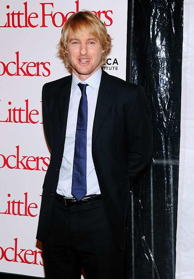 """Meet the parent! In a surprise twist, it was revealed Monday that Owen Wilson and his girlfriend of a year, Jade Duell, have an imminent delivery from the stork on the way. A source tells UsMagazine.com that Jade is """"due any day."""" Jamie McCarthy/<a href=""""http://www.gettyimages.com/"""" target=""""new"""">GettyImages.com</a> - December 15, 2010"""