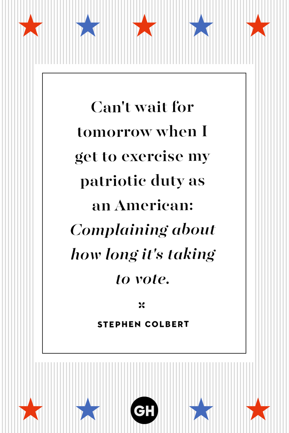 <p>Can't wait for tomorrow when I get to exercise my patriotic duty as an American: Complaining about how long it's taking to vote.</p>
