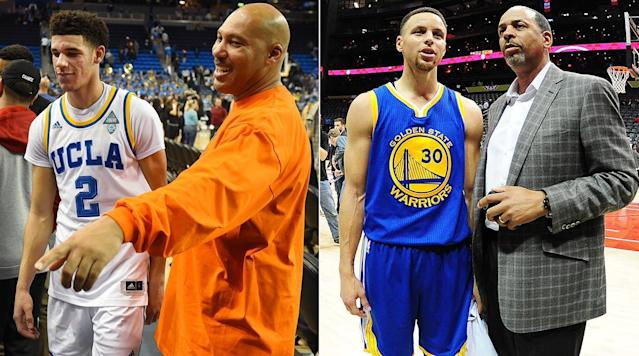 """<p>In the run-up to the 2017 NBA draft, LaVar Ball has made it clear he's not beholden to standard practices for his son, Lonzo, considered to be one of the top picks in this year's class.</p><p>LaVar's taken on the shoe companies. He's traded insults with television personalities. He's called out icons such as Michael Jordan, LeBron James and motherhood.</p><p>And he's all but forsaken the opportunity for his son to be drafted No. 1, declaring immediately after the draft lottery that <a href=""""https://www.si.com/nba/2017/05/25/lonzo-ball-draft-stock-workout-celtics"""" rel=""""nofollow noopener"""" target=""""_blank"""" data-ylk=""""slk:he would not allow"""" class=""""link rapid-noclick-resp"""">he would not allow </a><a href=""""https://www.si.com/nba/2017/05/25/lonzo-ball-draft-stock-workout-celtics"""" rel=""""nofollow noopener"""" target=""""_blank"""" data-ylk=""""slk:Lonzo"""" class=""""link rapid-noclick-resp"""">Lonzo</a><a href=""""https://www.si.com/nba/2017/05/25/lonzo-ball-draft-stock-workout-celtics"""" rel=""""nofollow noopener"""" target=""""_blank"""" data-ylk=""""slk:to visit Boston"""" class=""""link rapid-noclick-resp""""> to visit Boston</a> for the customary pre-draft workout, physical, and two-day team visit (which sometimes includes a psychological test, depending on the team). LaVar Ball wants his son to play for the hometown Lakers, who own the No. 2 pick.</p><p>However, on that last maneuver, LaVar is hardly a trend-setter. Family members often work with the player's agent to select a team rather than be drafted, with playing time and the team's offense usually being the critical factors in determining what they believe is the right fit.</p><p>It usually works like this: After the lottery, a team will call a player's agent to arrange a pre-draft visit. The agent will say """"thanks, but no thanks,"""" if it's not a place the player wants to play. If that isn't clear enough, it will be followed up with a private call from the agent to team management and sometimes even the owner, asking (nicely, usually) the team not to draft the p"""
