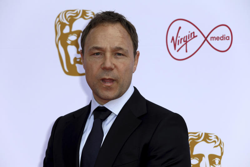 Actor Stephen Graham poses for photographers on arrival at the 2019 BAFTA Television Awards in London, Sunday, May 12, 2019.(Photo by Grant Pollard/Invision/AP)