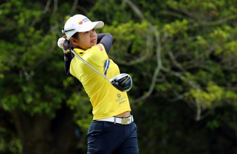 Taiwan's Hsu Wei-Ling has a share of the third-round lead at the LPGA Pure Silk Championship in Williamsburg, Virginia