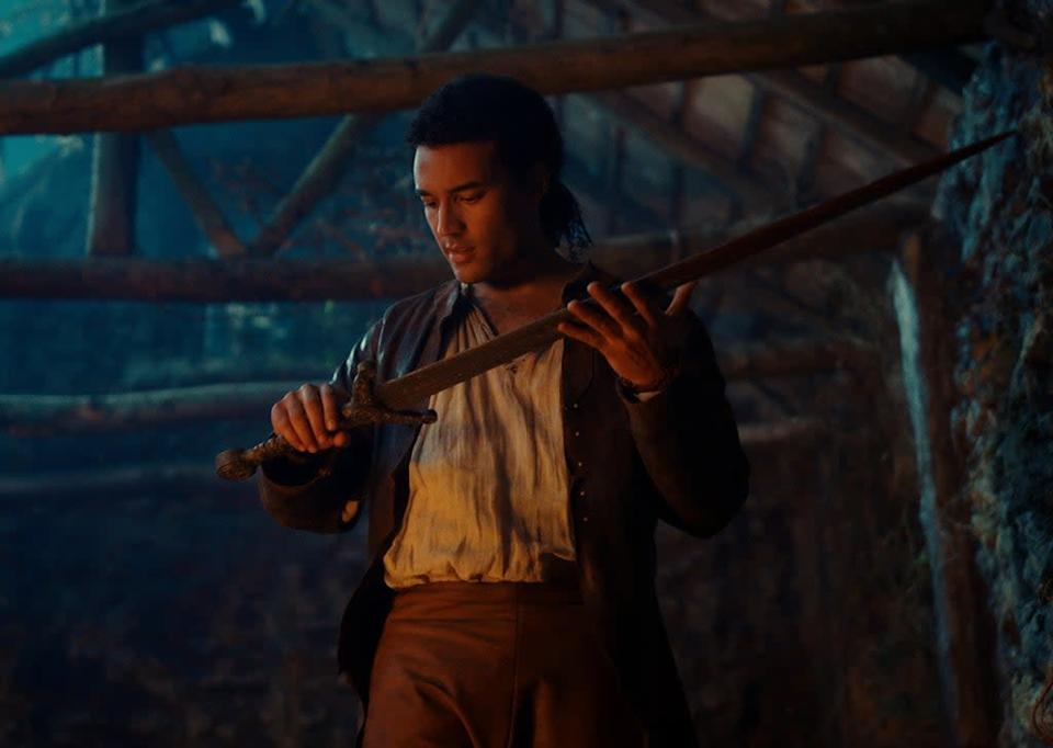 CURSED (L TO R) DEVON TERRELL as ARTHUR in episode 102 of CURSED Cr. Netflix © 2020
