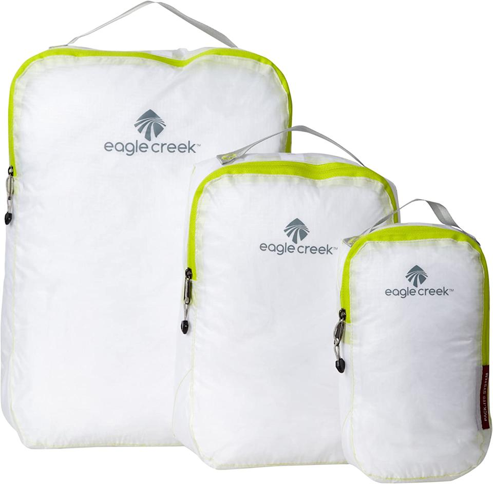 Pro tip: You can fit more in these genius packing cubes if you roll garments rather than fold them. (Photo: Amazon)