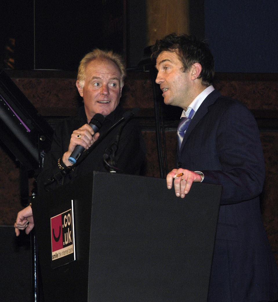 Bruce Jones and Bradley Walsh during North West Comedy Awards - October 28, 2005 at Piccadilly Hotel in Manchester, Great Britain. (Photo by Shirlaine Forrest/WireImage)