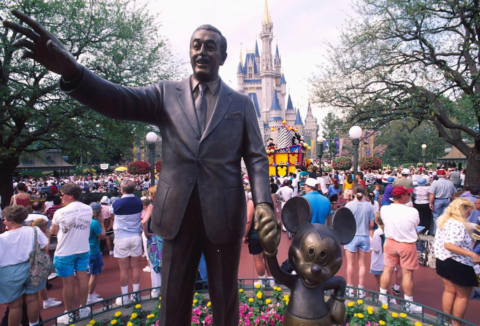 Statue of Walt Disney and Mickey Mouse