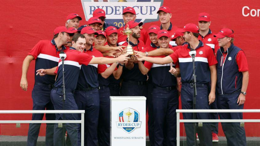 Team USA with the Ryder Cup.
