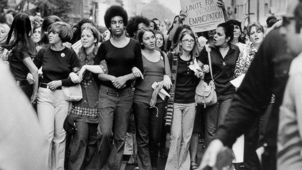 PHOTO: Women march down Fifth Avenue in New York during a Women's Equality March on Aug. 26, 1970, organized by the National Organization for Women to commemorate the 50th anniversary of the passing of the Nineteenth Amendment. (John Olson/LIFE Picture Collection via Getty Images)