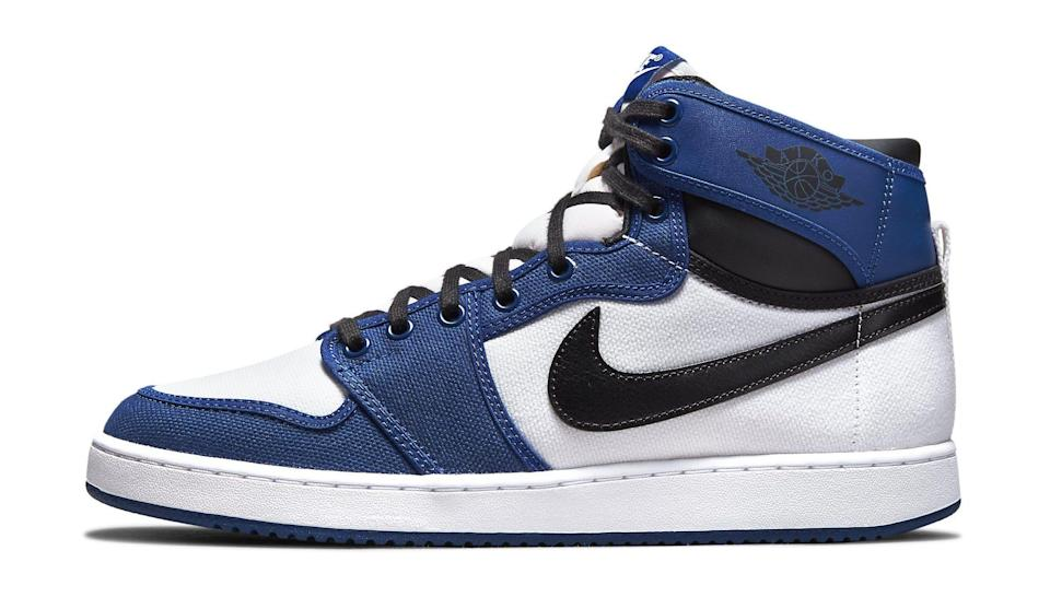 """The lateral side of the Air Jordan 1 KO """"Storm Blue."""" - Credit: Courtesy of Nike"""