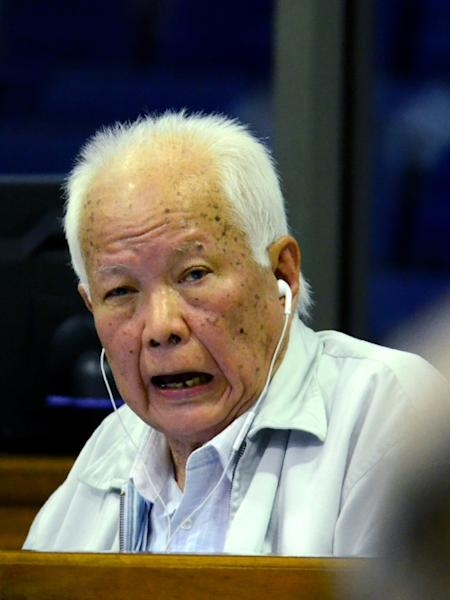 Khmer Rouge former head of state Khieu Samphan, 87 -- seen here in 2017 -- and his co-defendant are the two most senior living members of the group