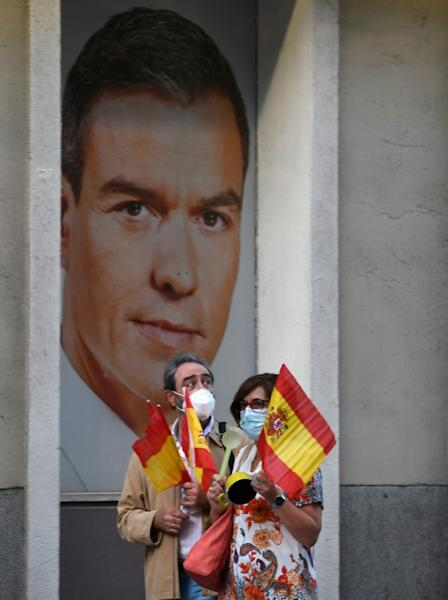 Sanchez's government holds just 155 of the 350 parliamentary seats (AFP Photo/PIERRE-PHILIPPE MARCOU)