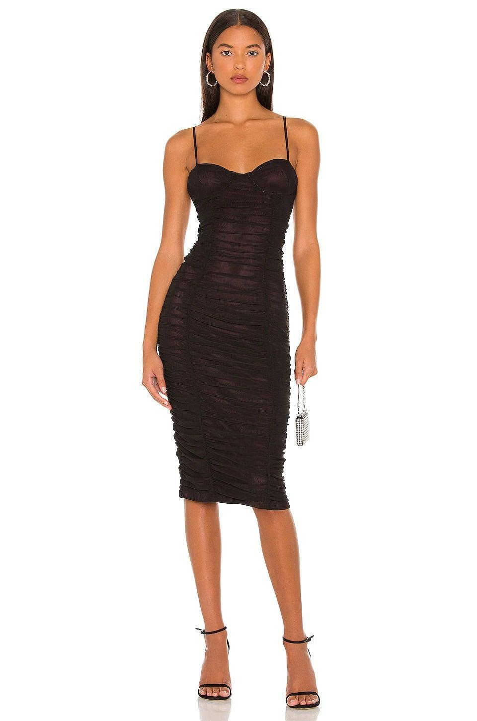<p>The <span>AFRM Shereen Dress in Port</span> ($78) is such a flattering and stunning dress, perfect for a night out. From rooftops to parties, you'll look and feel absolutely chic in this. </p>