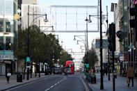 London hotspots like Oxford Street have been far quieter since a second lockdown was imposed this month