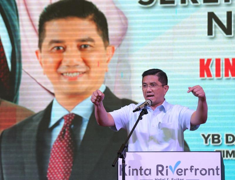 Economic Affairs Minister Datuk Seri Mohamed Azmin Ali speaks during the launch of PKR's annual general meeting at the Kinta Riverfront Hotel in Ipoh August 26, 2018. ― Picture by Marcus Pheong