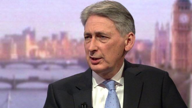 The Chancellor also told the Andrew Marr Show that the UK would 'do whatever it takes' to rebuild its economy if no trade deal with the EU was struck