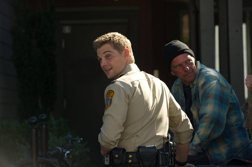 "Mike Vogel as Deputy Zack Shelby in A&E's ""Bates Motel"" coming in March 2013."