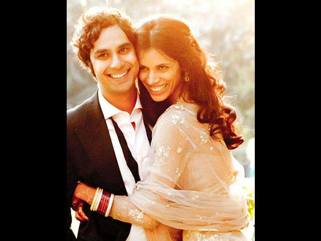 """<b>1. Neha Kapur</b><br> The former Miss India Neha Kapur, got married to Kunal Nayyar, better known as Raj Koothrappali from the hit sitcom, the Big Bang Theory. They both got married in December 2011 in Delhi. The London born Indian actor Kunal said it was love at first sight for him. The first thing he said when he met Neha was, """"Hey, sit down. I will buy you a drink."""" The couple had a fairy-tale love affair which was followed by a lavish wedding."""