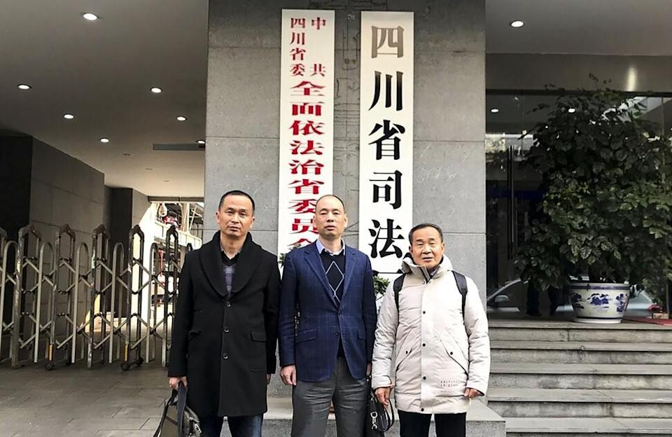 Lu Siwei (centre) was accused by the mainland authorities of making inappropriate remarks online. Photo: Handout