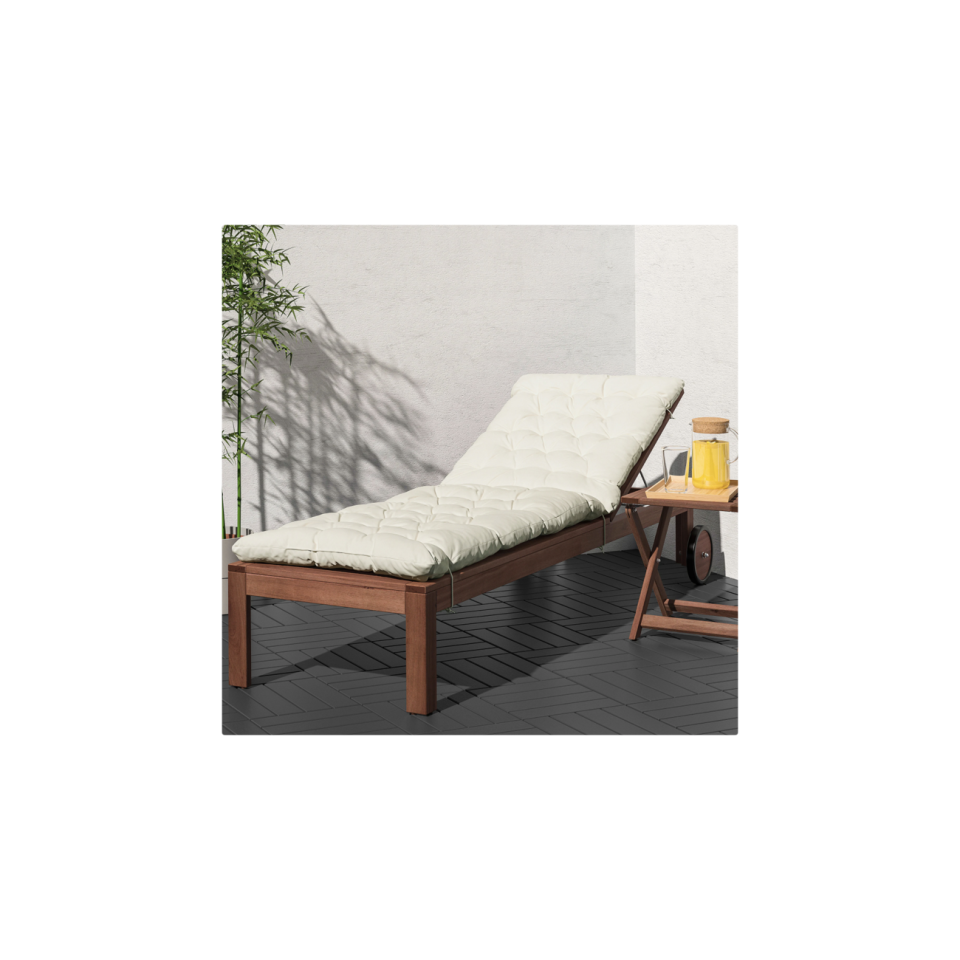 """<p><strong>IKEA</strong></p><p>ikea.com</p><p><strong>$129.00</strong></p><p><a href=""""https://go.redirectingat.com?id=74968X1596630&url=https%3A%2F%2Fwww.ikea.com%2Fus%2Fen%2Fp%2Faepplaroe-chaise-brown-stained-90208543%2F&sref=https%3A%2F%2Fwww.oprahdaily.com%2Flife%2Fg36661332%2Fbest-pool-lounge-chair%2F"""" rel=""""nofollow noopener"""" target=""""_blank"""" data-ylk=""""slk:SHOP NOW"""" class=""""link rapid-noclick-resp"""">SHOP NOW</a></p><p>It shouldn't surprise you that one of the best values comes straight from IKEA. This stained hardwood chair (assorted cushions sold separately) looks a lot like teak, but is much more affordable. It's still supremely functional, though. Recline it to five different positions to suit your comfort level. </p>"""