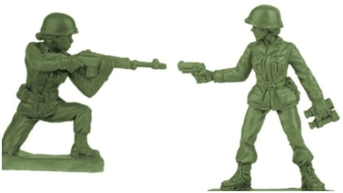 Next holiday season, Plastic Army Women are expected to be available on the BMC Toys website and on Amazon.
