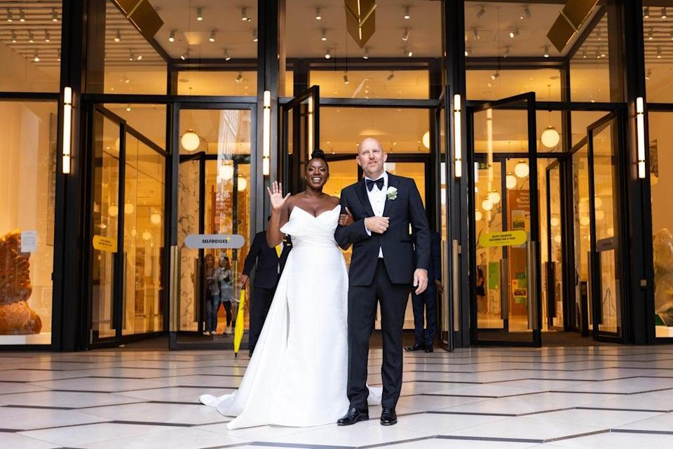 The couple after getting married at Selfridges in London (David Parry/PA) (PA Wire)
