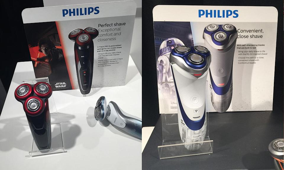 <p>Philips has launched a range of Star Wars-themed electric razors.<br> (Yahoo Movies UK/Disney) </p>