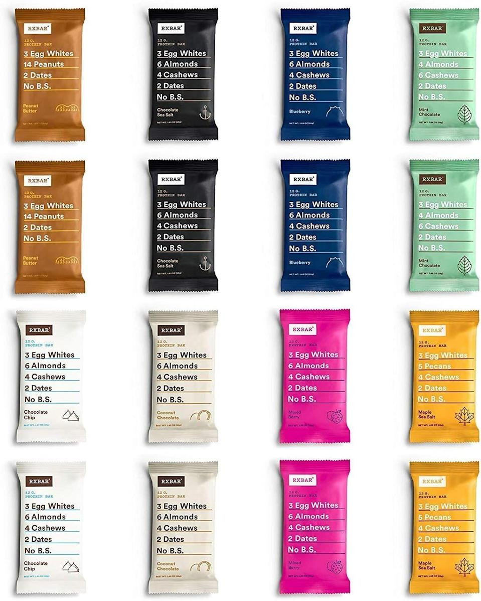 """<p><strong>RXBAR</strong></p><p>rxbar.com</p><p><strong>$60.00</strong></p><p><a href=""""https://www.rxbar.com/shop/best-seller-pack.html"""" rel=""""nofollow noopener"""" target=""""_blank"""" data-ylk=""""slk:SHOP"""" class=""""link rapid-noclick-resp"""">SHOP</a></p><p>Know someone addicted to RXBARs? Gift them this box of 30 of the best-selling bars—and they'll be thanking you every day through January.</p>"""