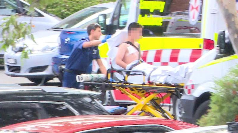 The male student was rushed away to Liverpool Hospital. Source: 7 News