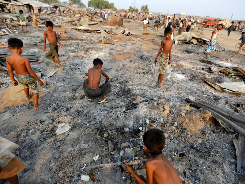 Human rights organisations charge that civilians were killed and raped, and more than 1,000 homes burned down during counterinsurgency operations in Rohingya areas in northern Rakhine: Reuters