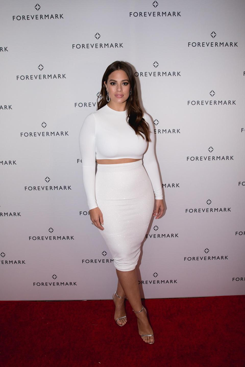 Ashley Graham at Forevermark Tribute Event in Manhattan. (Photo: Courtesy of Forevermark)