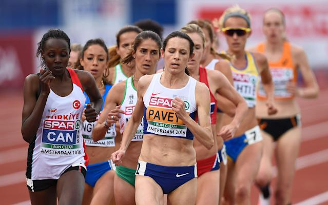 <span>Pavey stands to gain the first global medal of her long career</span> <span>Credit: afp </span>