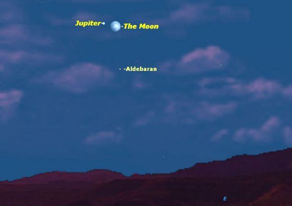 Jupiter, Moon Align in Christmas Skywatching Treat